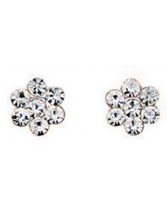 My-jewelry - D589cuk - Sterling silver zirconium flower earring