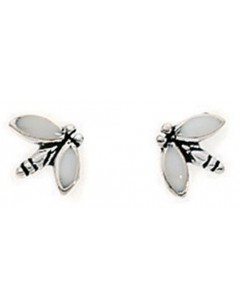 Earring bee in 925/1000 silver