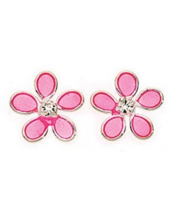 My-jewelry - D768puk - Sterling silver flower earring