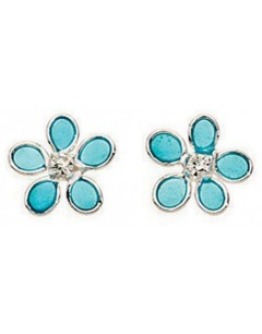 My-jewelry - D768tuk - Sterling silver flower earring