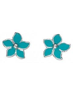 Earring flower 925/1000 silver