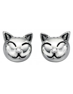My-jewelry - D4621uk - Sterling silver cat earring