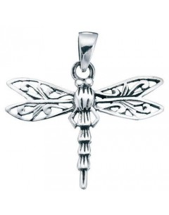 Necklace dragonfly in 925/1000 silver