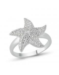 My-jewelry - D833 - Ring star in 925/1000 silver