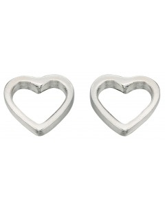 My-jewelry - D355uk - Sterling silver heart earring