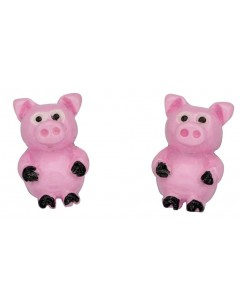 My-jewelry - D928puk- Sterling silver little pig earring