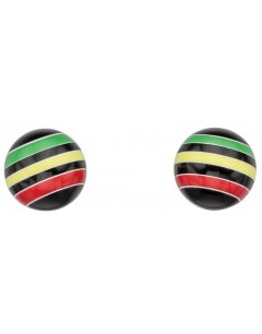 My-jewelry - D932puk - Sterling silver Loop multicolor earring
