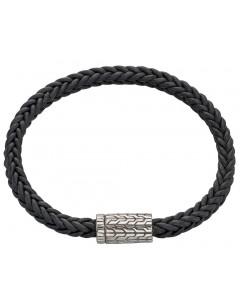 My-jewelry - D4675 - leather Bracelet in 925/1000 silver
