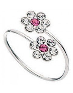 My-jewelry - D146puk - Sterling silver toe zirconia adjustable ring