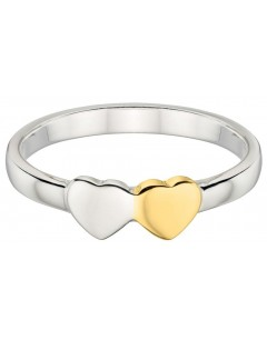 My-jewelry - D3323uk - Sterling silver chic heart gold plated Ring