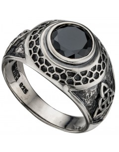 My-jewelry - D3358 - chic Ring Onyx in 925/1000 silver