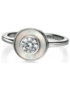 My-jewelry - D3351w - Ring very class mother-of-pearl and zirconium in 925/1000 silver