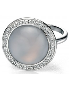 My-jewelry - D3354uk - Sterling silver very class of chalcedony and zirconium Ring
