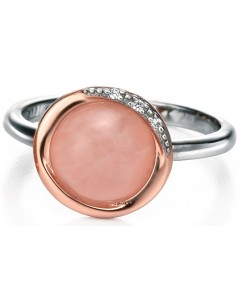 My-jewelry - D3355 - Ring very classy rose quartz and zirconium in 925/1000 silver