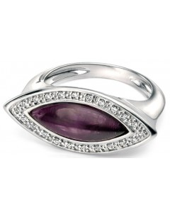 My-jewelry - D3356uk - Sterling silver very classy amethyst and zirconium Ring