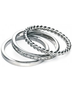 My-jewelry - D3357 - Three Rings very class with zirconium in 925/1000 silver