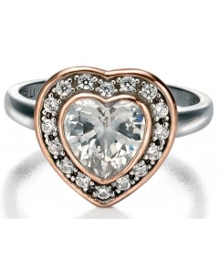 My-jewelry - D3403 - Rings heart Gold plated and zirconium in 925/1000 silver
