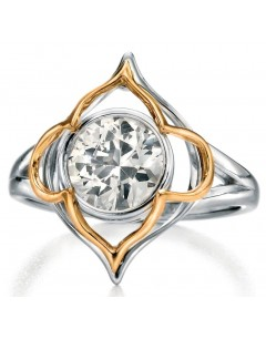 My-jewelry - D3405uk - Sterling silver chic Gold-plated and zirconium Ring