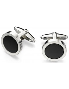 My-jewelry - D477 - Button cuff Onyx stainless steel
