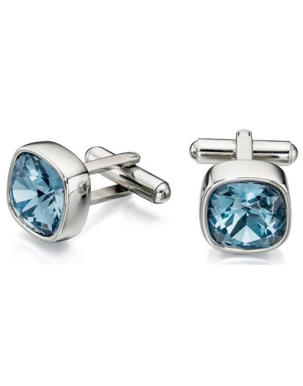 Alegaciones soporte científico  stainless steel crystal Swarovski® cufflinks