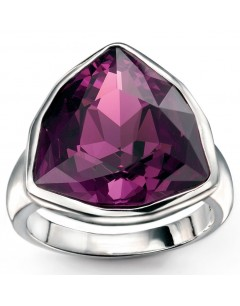 My-jewelry - D3320uk - Sterling silver triangle amethyst crystal from Swarovski® ring