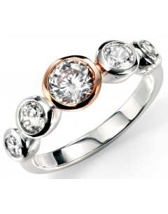 My-jewelry - D3321 - Ring trend rose Gold plated and zirconium in 925/1000 silver