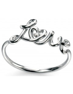 """My-jewelry - D3341 - Ring trend """" love in 925/1000 silver"""