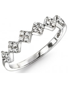 My-jewelry - D3417c - Ring trend zirconium in 925/1000 silver