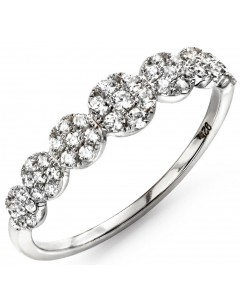 My-jewelry - D3418cuk - Sterling silver trend plated rhodium and zirconium ring