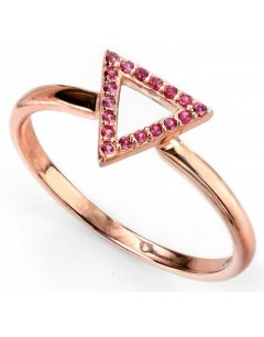 My-jewelry - D3421puk - Sterling silver trend rose gold plated and zirconium ring