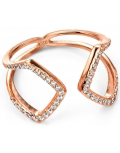 My-jewelry - D3424c - Ring trend rose Gold plated and zirconium in 925/1000 silver