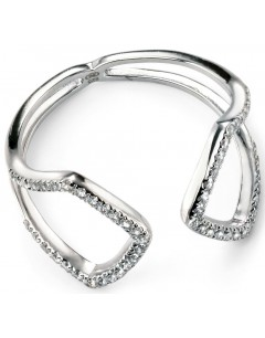My-jewelry - D3425 - Ring trend-plated rhodium and zirconium in 925/1000 silver