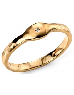 My-jewelry - D3430c - Ring, trendy Gold plated and zirconium in 925/1000 silver
