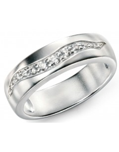 My-jewelry - D3435 - Rings tend brushed zirconium in 925/1000 silver