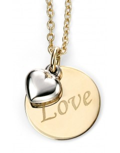 My-jewelry - D232uk - 9k Love yellow Gold and white Gold necklace