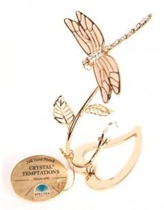 Mon-bijou - D5728 - Libellule en cristal de Swarovski et doré à l'or fin 24 carats Spectra® Swarovski® Crystal Temptations®