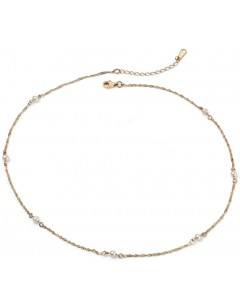 My-jewelry - D258uk - 9k Pretty pearl trend yellow Gold necklace