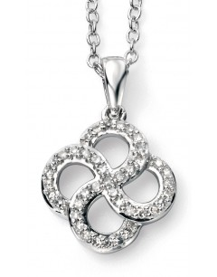 My-jewelry - D937auk - 9k Superbe diamond white Gold necklace
