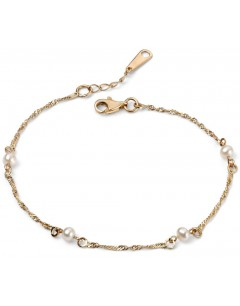 My-jewelry - D425e - trend Bracelet pearl Gold 375/1000