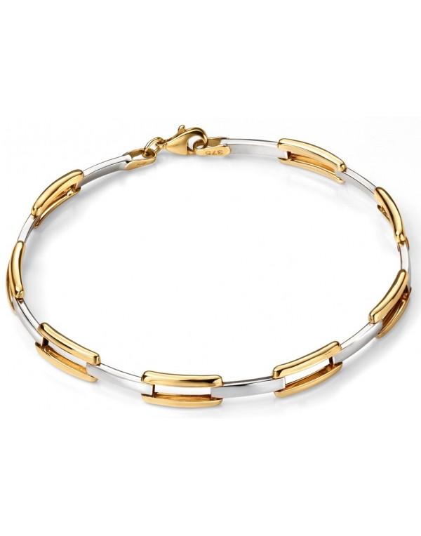 f22226c6b0117 9k trend white Gold and Gold bracelet