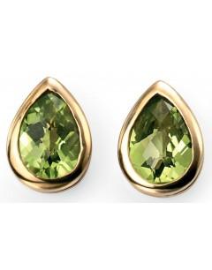 Earring peridot Gold 375/1000