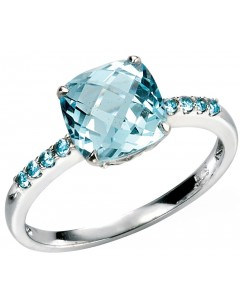 Ring blue Topaz gold 375/1000 carat