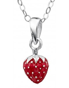 My-jewelry - DP165uk - Sterling silver Superb strawberry for a little girl necklace
