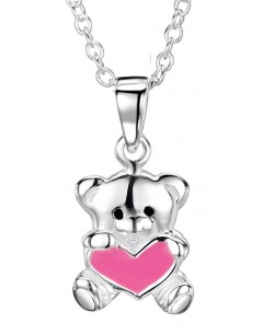My-jewelry - DC128uk - Sterling silver teddy bear heart necklace