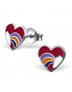 My-jewelry - H1557uk - Sterling silver heart rainbow earring