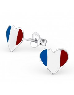 My-jewelry - H13272uk - Sterling silver the heart of France earring