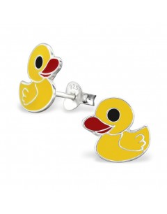 My-jewelry - H3729 - earring small yellow duck in 925/1000 silver