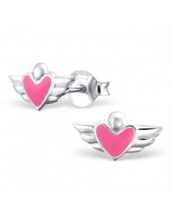 My-jewelry - H4627uk - Sterling silver heart winged earring