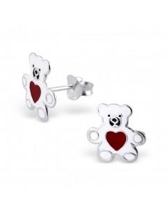 My-jewelry - H4793 - earring bears the heart in 925/1000 silver