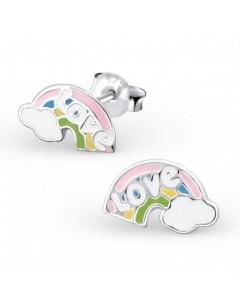 My-jewelry - H17360uk - Sterling silver rainbow Love earring
